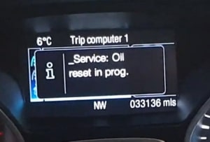 Ford Tourneo service light reset 2018