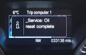 Service oil reset complete ford Tourneo